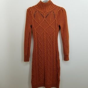 Moda International  Women's Sweater Dress Orange